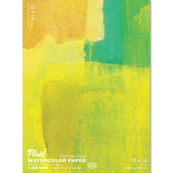 Fluid Watercolor EZ Block Hot Press 12x16