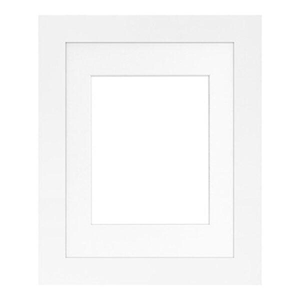 Framatic Modern White Frame 11x14-8x10