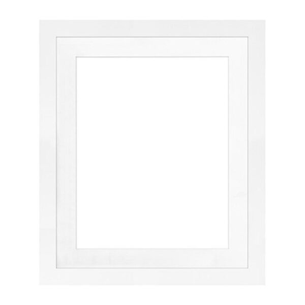 Framatic Modern White Frame 20x24-16x20