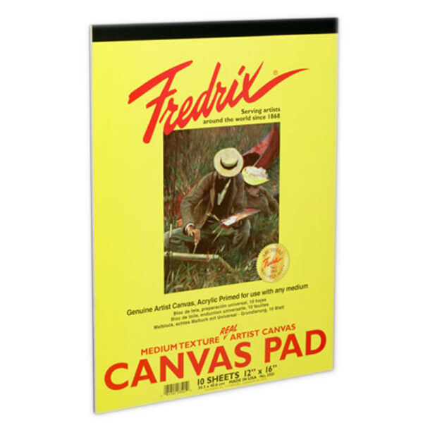 Fredrix Real Canvas Pads - 18  x 24 in