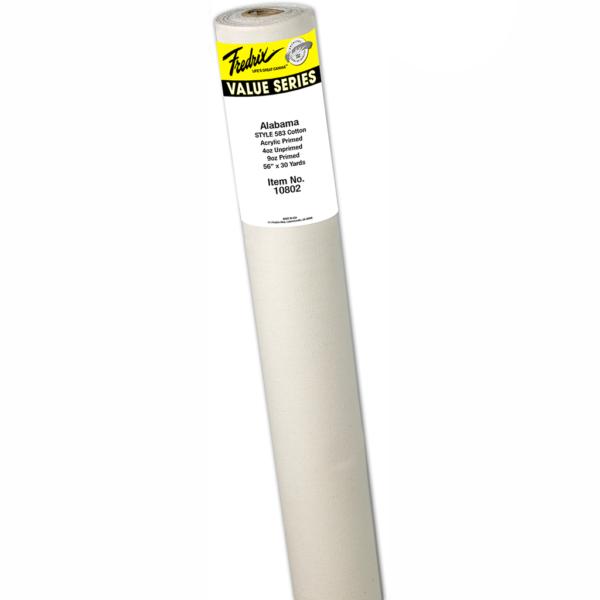 Fredrix Acrylic Primed Cotton Rolls - Style 583 Alabama 56 in x 6 Yds