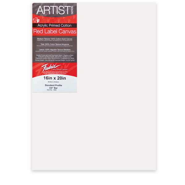 Fredrix Red Label Cotton Canvas  - Red Label Canvas 3/4 in Profile 48  x 48 in