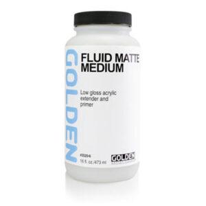 Golden Fluid Matte Medium - 473 ml (16 OZ)