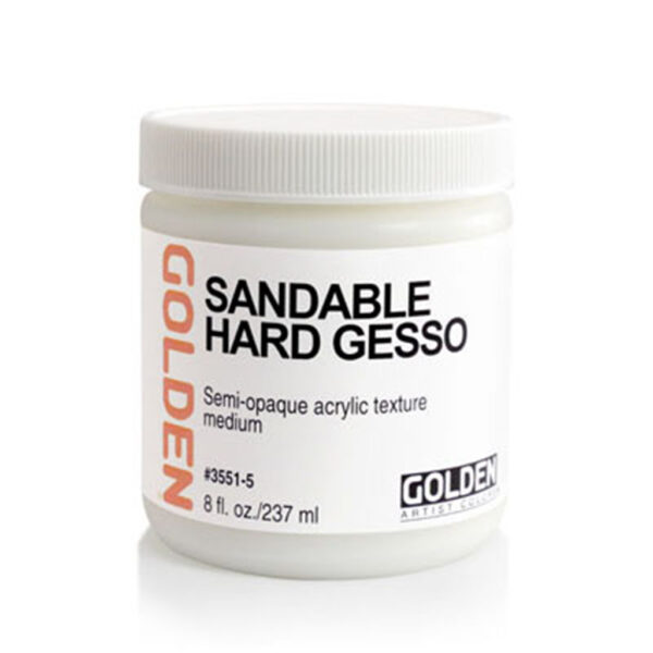 Golden Sandable Hard White Gesso - 237 ml (8 OZ)