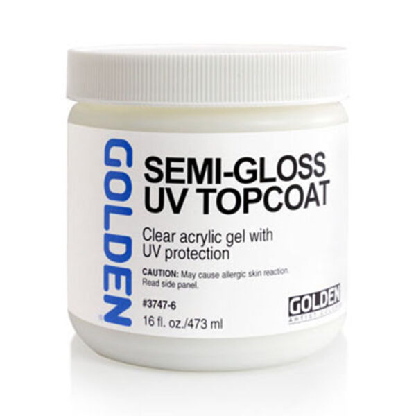 Golden Gel Topcoat w/UVLS(Satin) - 473 ml (16 OZ)
