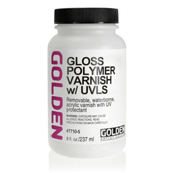 Golden Polymer Varnish w/UVLS - Gloss 237 ml (8 OZ)