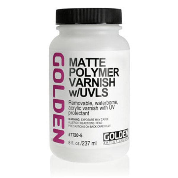 Golden Polymer Varnish w/UVLS - Matte 237 ml (8 OZ)