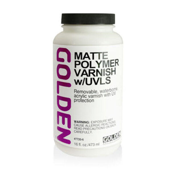 Golden Polymer Varnish w/UVLS - Matte 473 ml (16 OZ)