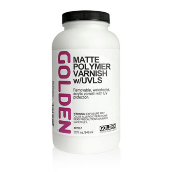 Golden Polymer Varnish w/UVLS - Satin 946 ml (32 OZ)