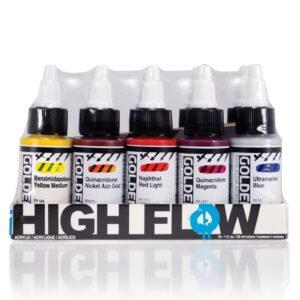 Golden High Flow Basic Acrylic Set 10 x 30 ml (1 OZ)