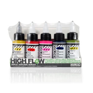 Golden High Flow Marker Set 5 x 30 ml (1 OZ)