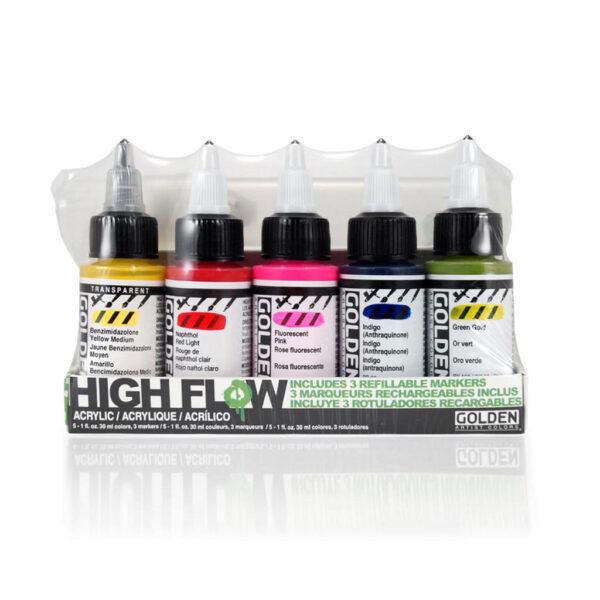 Golden High Flow Marker Set 5 x 30 ml (1 OZ)