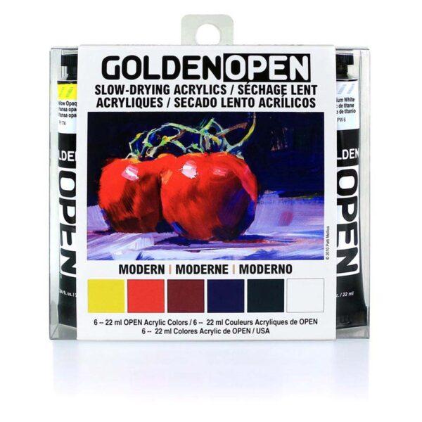 Golden Open Modern Set 6 x 22ml Front