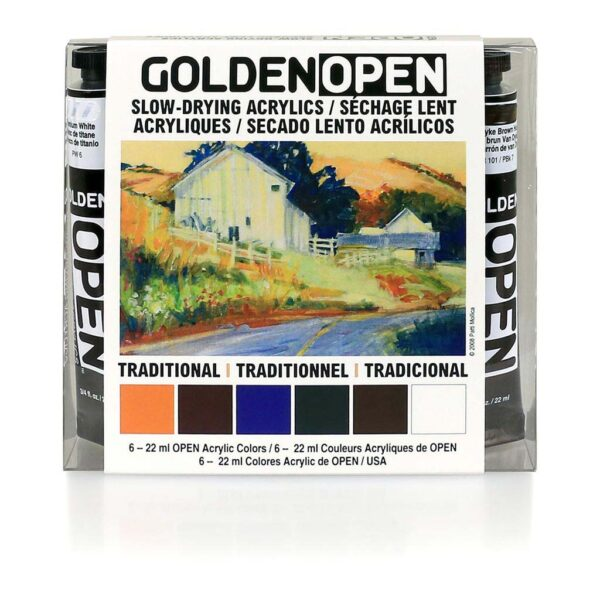 Golden Open Traditional Set 6 x 22 ml Front