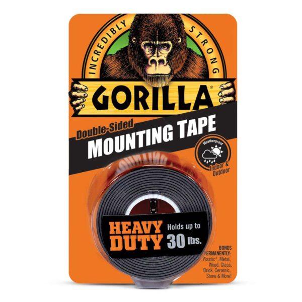 Gorilla Mounting Tape Black 1x60