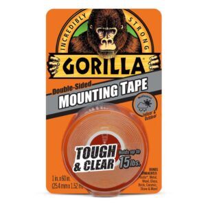 Gorilla Mounting Tape Clear 1x60