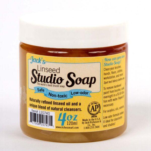 Jacks Linseed Studio Soap - Jar 118 ml (4 OZ)
