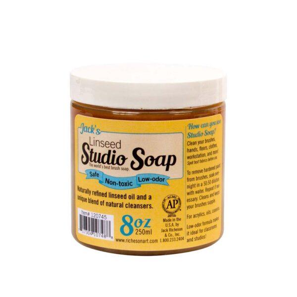 Jacks Linseed Studio Soap - Jar 237 ml (8 OZ)