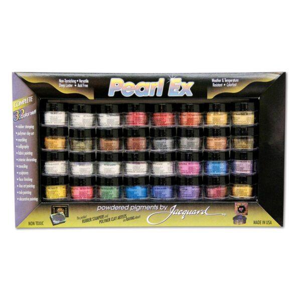 Jacquard Pearl Ex Powdered Pigment Sets - Color Set of 32 x 3gr