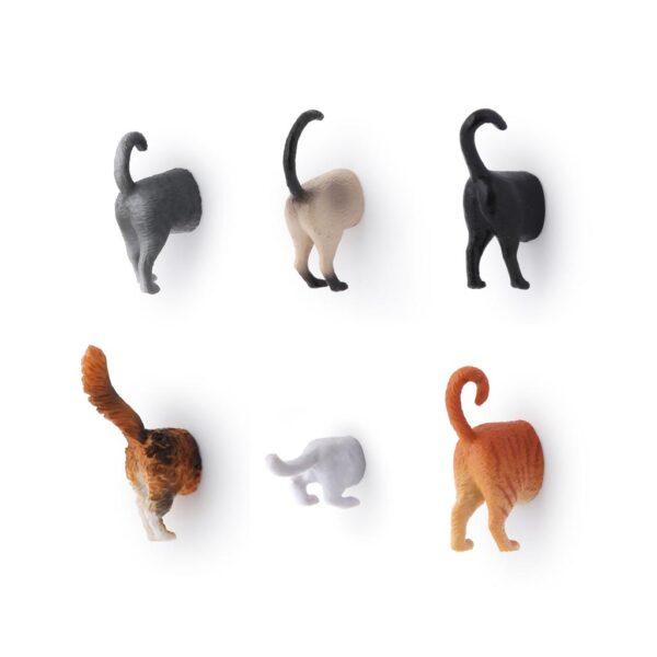 Kikkerland Cat Butt Magnets Set Of 6