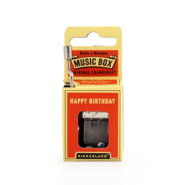 Kikkerland Crank Music Box - Happy Birthday