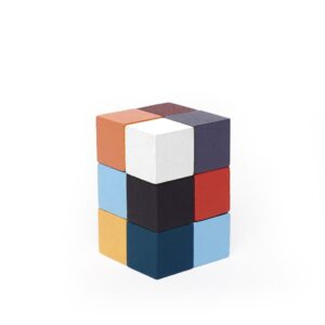 Kikkerland Elasti Cube 3D Wooden Puzzle