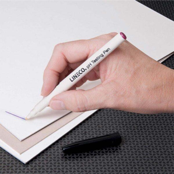 Lineco Ph Testing Pen White Barrel