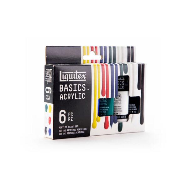Liquitex Basic Set 6 x 22ml Angle