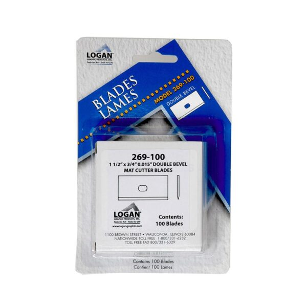 Logan 269-100 Blades 100PK (For use with model 650, 650-1, 655, 655-1, 660, 660-1)