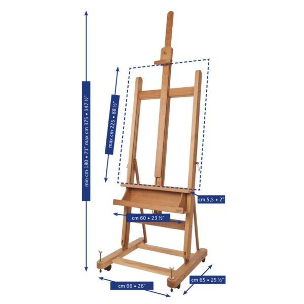 Mabef Studio Easels M-06 Detail