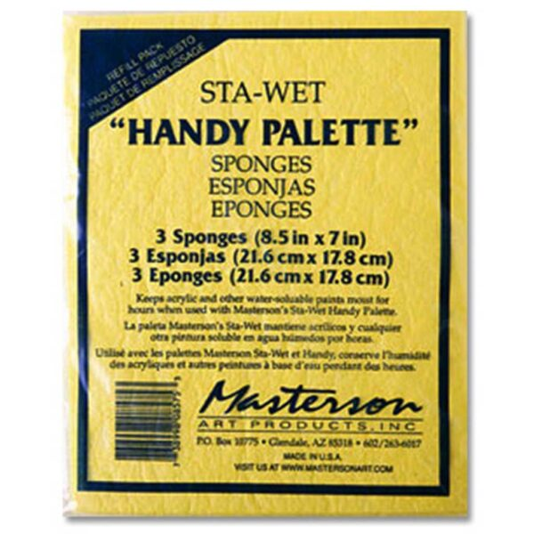Masterson Sta-Wet Painters Palette - Sponge 3 Pack Refill 9in x 12in