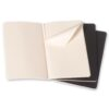 Moleskine Cahier Journal Large Plain Black 3PK Open