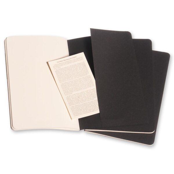 Moleskine Cahier Journal Large Plain Black 3PK Folder