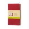 Moleskine Cahiers Journal Pocket Plain 3Pk Red 3.5X5.5 In