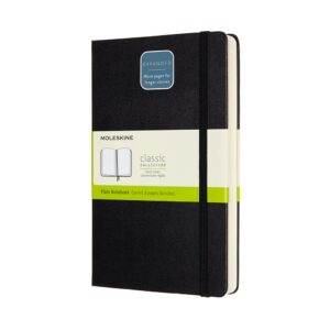 Moleskine Classic Notebook Expanded Large Plain 5X8.25 In