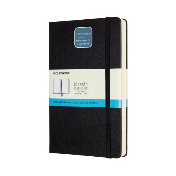 Moleskine Classic Notebook Softcover Expanded Large Dot Black 5X8.25 In