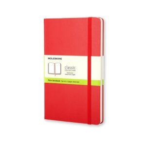 Moleskine Classic Notebook Hardcover Large Plain Red 5X8.25 In
