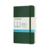 Moleskine Classic Notebook Softcover Pocket Dot Myrtle Green 3.5X5.5 In