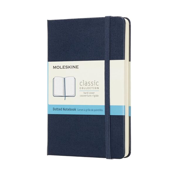 Moleskine Classic Notebook Softcover Pocket Dot Sapphire Blue 3.5X5.5 In