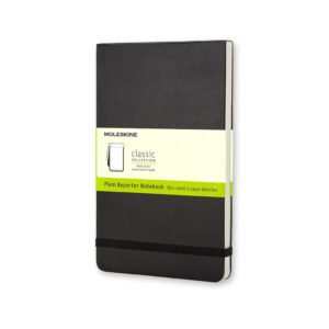 Moleskine Reporter Notebook Hardcover Large Plain 5X8.25 In