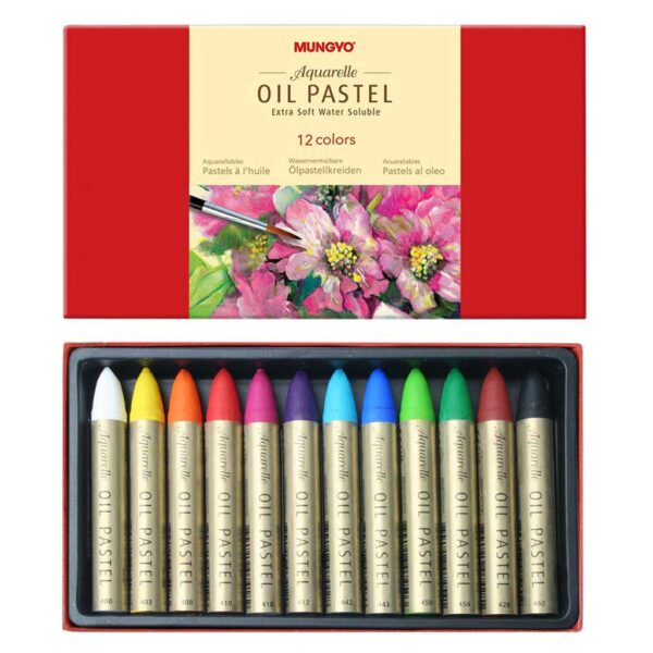 Mungyo Artists Water Soluble Oil Pastel Sets - Basic Set of 12