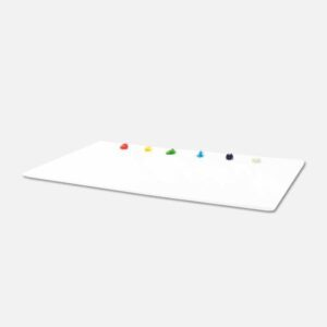 New Wave Ugo Glass Palettes - White Plastic 11in x 14in