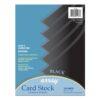 Pacon Array Card Stock - Black 8.5in x 11in (100 PK)