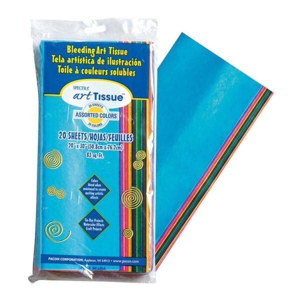 Pacon Art Tissue Paper - Bleeding Tissue Assorted 20 x 30in