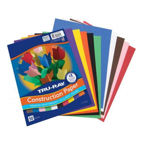 Pacon Tru-Ray Construction Paper 9x12 Assorted