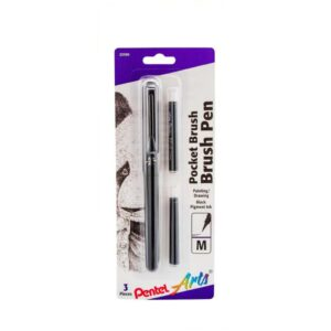 Pentel Pocket Brush Pen - Sepia Round Medium