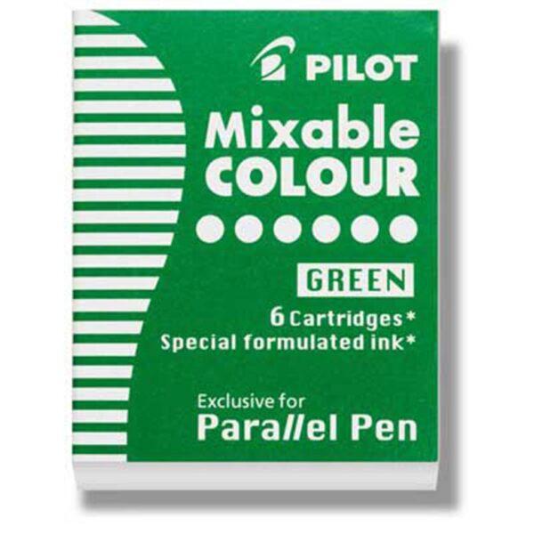 Pilot Parallel Calligraphy Pen Refills - Green Refill Pack of 6