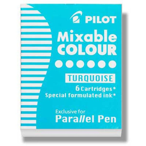 Pilot Parallel Calligraphy Pen Refills - Turquoise Refill Pack of 6