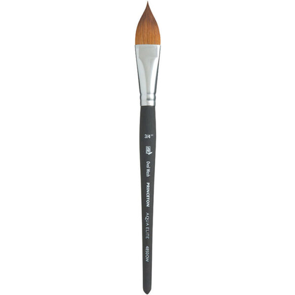 Princeton Aqua Elite Series 4850 Synthetic Brushes - Oval Wash Sz 3/4 in