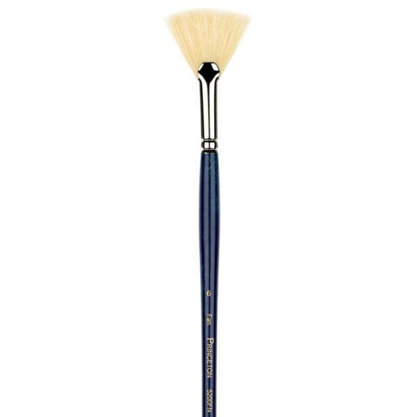Princeton Ashley Series 5200 Natural Bristle Brushes - Fan Sz 6